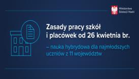 Zasady pracy szkół od 26 kwietnia 2021r.